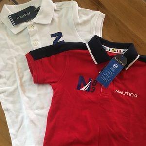 NWT Two Nautica Polo Shirts